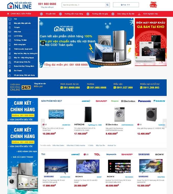 Mẫu website điện máy