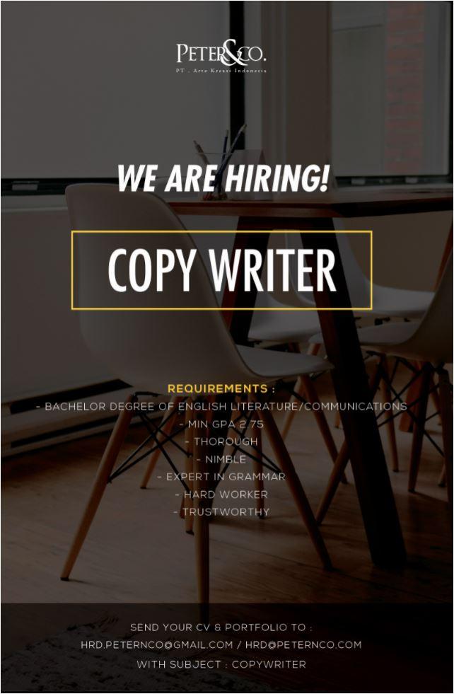 Lowongan Kerja Copy Writer Pendidikan Bahasa Inggris
