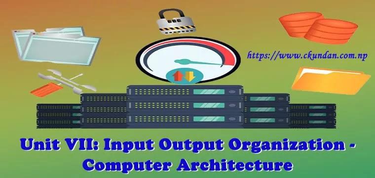 Input Output Organization - Computer Architecture