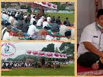 Bupati Kerinci Laksanakan Sholat Idul Fitri 1442 H Dilapangan Desa Lubuk Nagodang