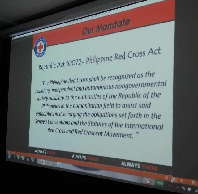 Mandate RA 10072 Philippine Red Cross Act