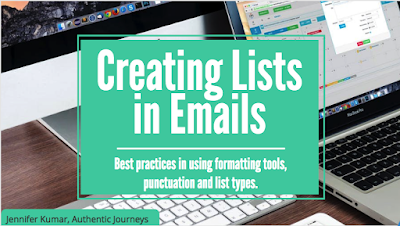 Tips to create easy to read lists in emails