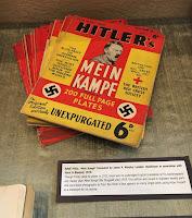 Mein Kampf in exhibition case