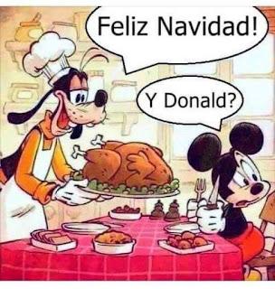 Cena Navidad pato Donald al horno