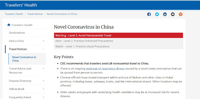 Coronavirus Spread, USA Issues Travel Warning Level 3
