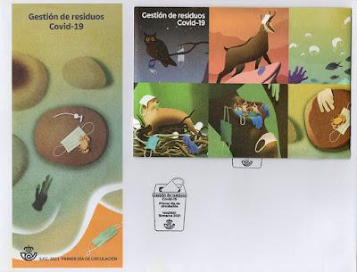 sobre, sello, PDC, residuos, gestión, Covid
