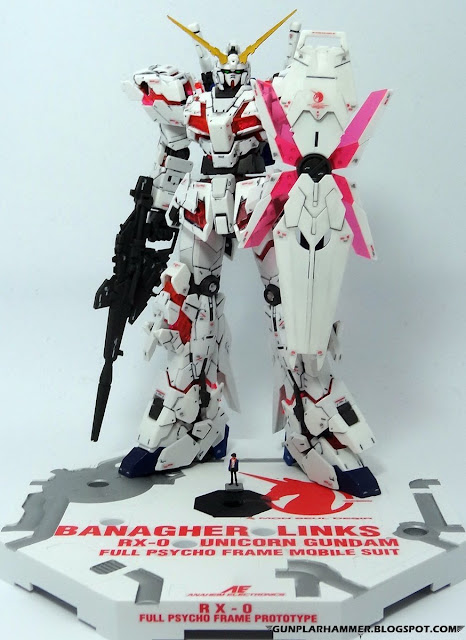 RG 1/144 Unicorn Gundam RX-0 Realgrade no paint Rifle Action base Banagher Links