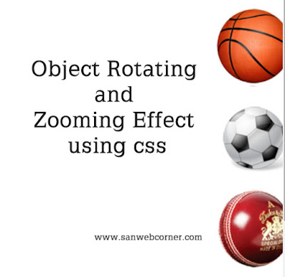Object Rotate Effect using Css