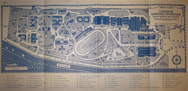 Canadian National Exhibition Plan of Grounds and Buildings. 1940