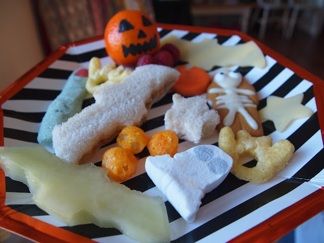 Halloween Party Buffet Plate for Kids