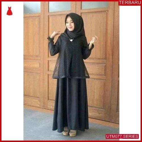 UTM077D48 Baju Dotya Muslim Longdress UTM077D48 04D | Terbaru BMGShop