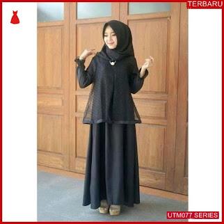 UTM077D48 Baju Dotya Muslim Longdress UTM077D48 04D   Terbaru BMGShop