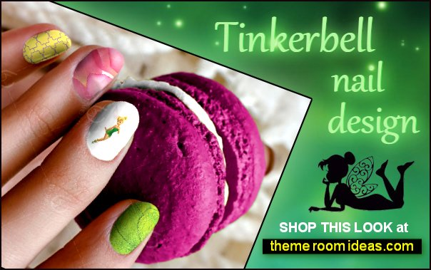 TinkerBell Waterslide Nail Decals Disney nails TinkerBell faiiry decorations tinkerbell nail art