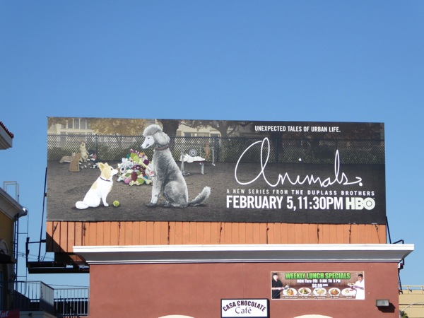 Animals series premiere Dogs billboard