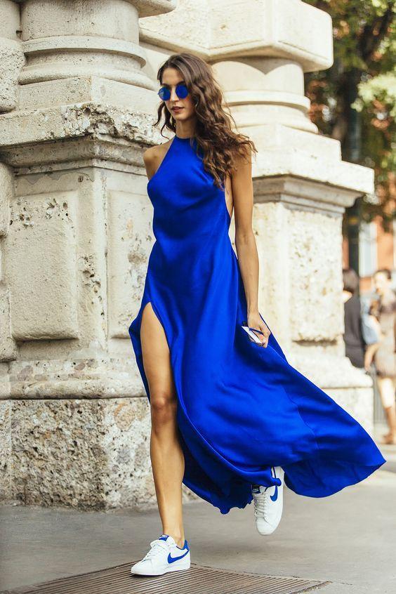 cobalt fashion trend street style