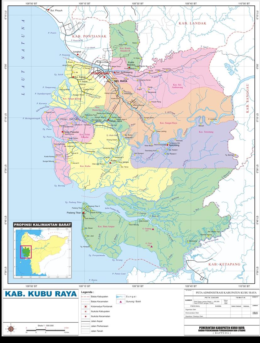 Letak Geografis - KUBU RAYA POTENSI PRODUK LOKAL