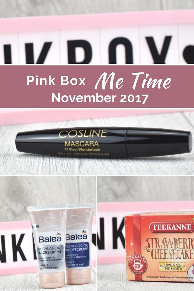 Unboxing und Inhalt der Pink Box für November 2017 mit dem Motto Me Time