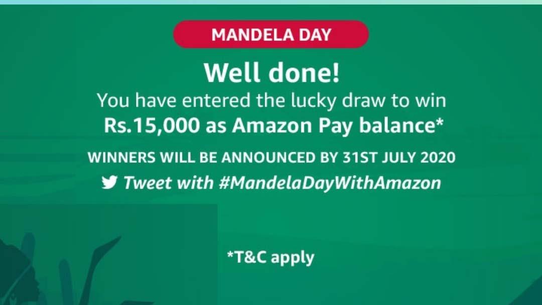 Amazon Mandela Day Quiz – Answers & Win ₹15000 | 6 Winners