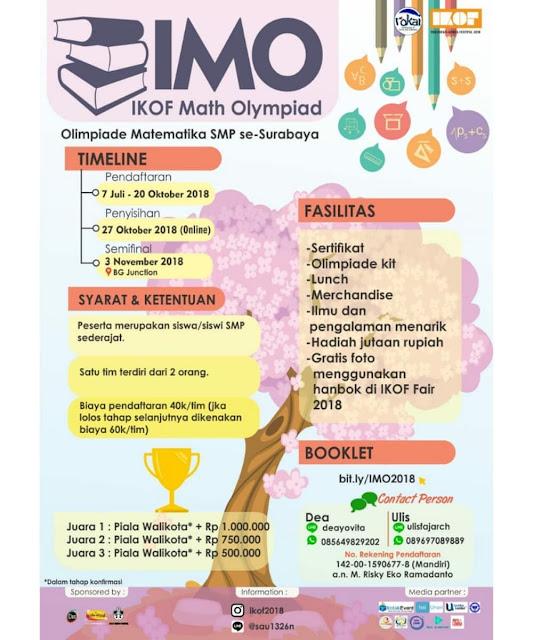 Contest IKOF Math Olympiad (IMO) 2018