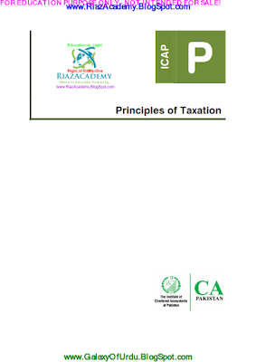 CAF-06 - PRINCIPLES OF TAXATION 2016 - STUDY TEXT