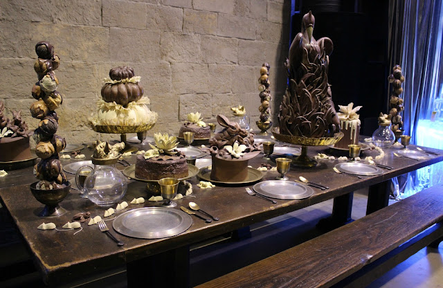 A picture of the chocolate feast from Harry Potter and the Goblet of Fire