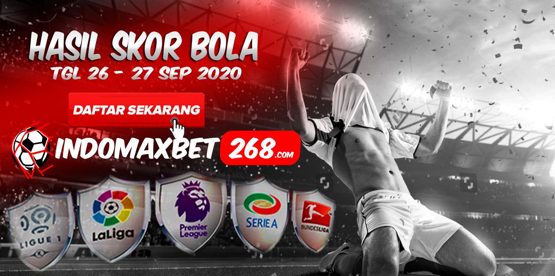 Hasil Pertandingan Sepakbola Tanggal 26 - 27 September 2020