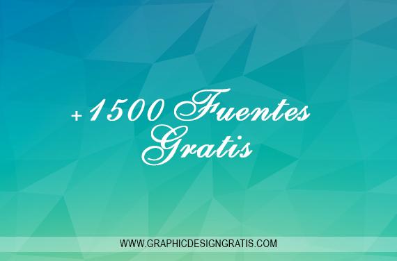 Super pack de +1500 Fuentes [Tipografías][Gratis]