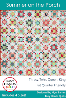Summer on the Porch quilt pattern by Myra Barnes of Busy Hands Quilts