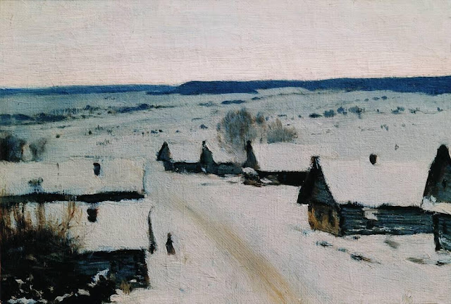 Исаак Ильич Левитан - Деревня. Зима. 1877-1878