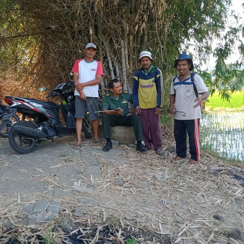 Bati Tuud Koramil 0819/18 Pandaan Komsos Bersama Kelompok Tani