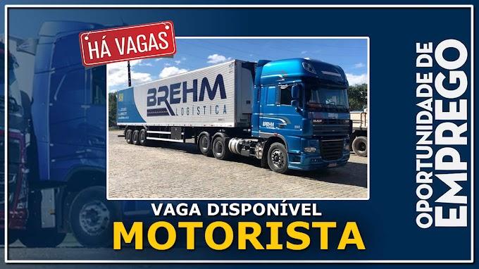 Transportadora Brehm abre vagas para Motorista Carreteiro