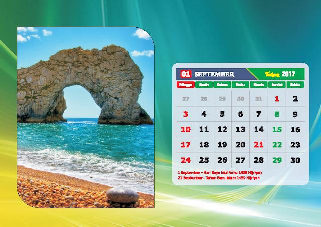 Kalender Bulan September 2017