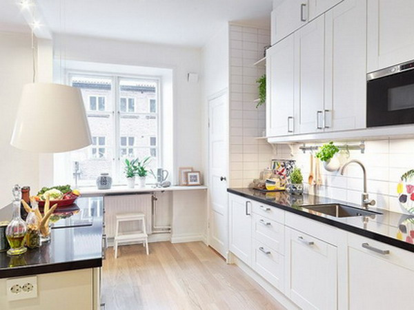 Modern White kitchen furniture 1