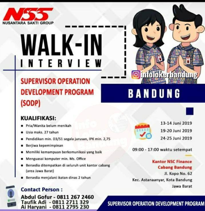 Lowongan Kerja PT Nusantara Sakti Group Bandung Juni 2019