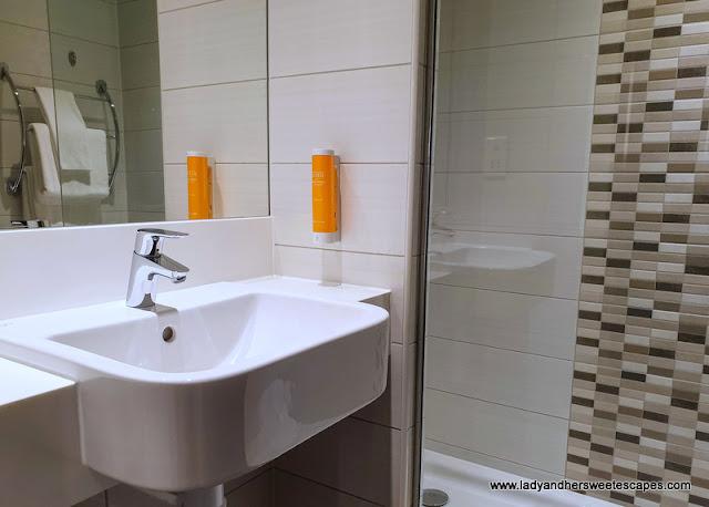 Premier Inn Al Jaddaf sleek bathroom