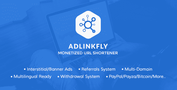 AdLinkFly v5.3.0 - Monetized URL Shortener