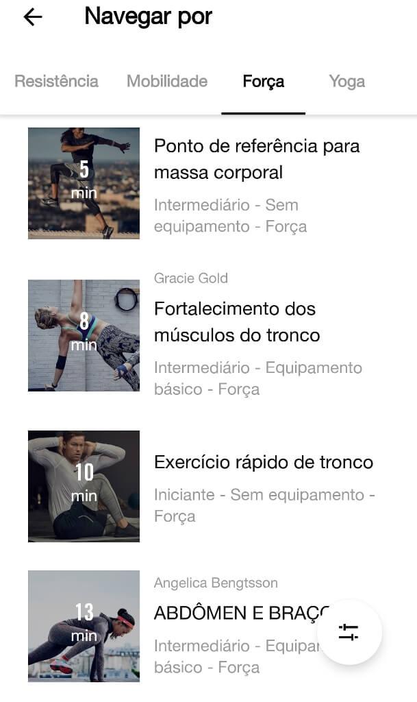 app para fazer exercício em casa