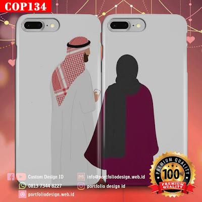 Model casing handphone couple pasangan muslim terbaru COP134