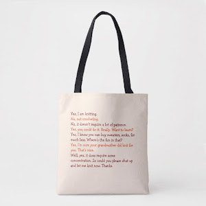 Funny Knitting Conversation | Mothers Day Yarn Tote Bag