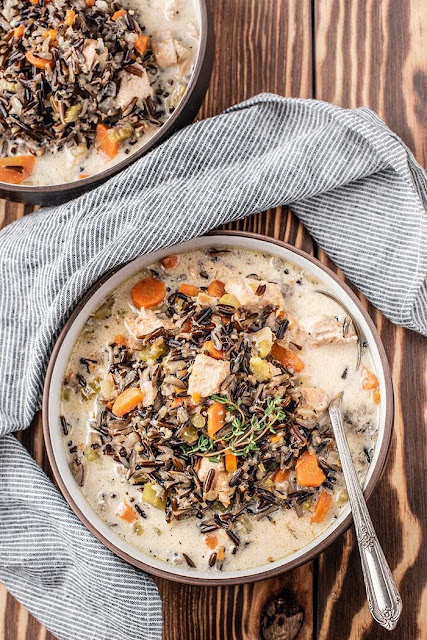 Instant Pot Chicken Soup with Wild Rice | My Wife Can Cook