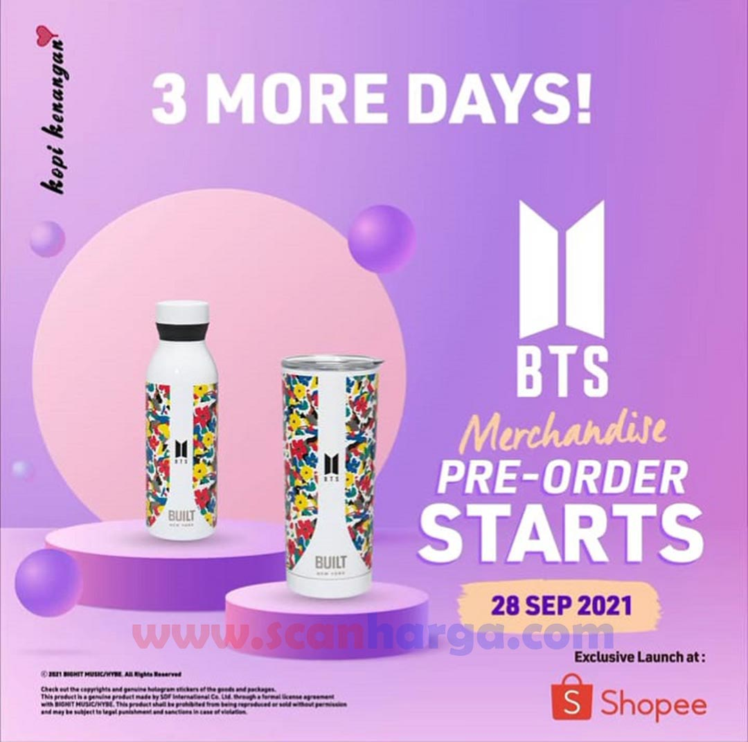 Promo KOPI KENANGAN Merchandise BTS x Built NY  *Pre-Order mulai 28 September 2021