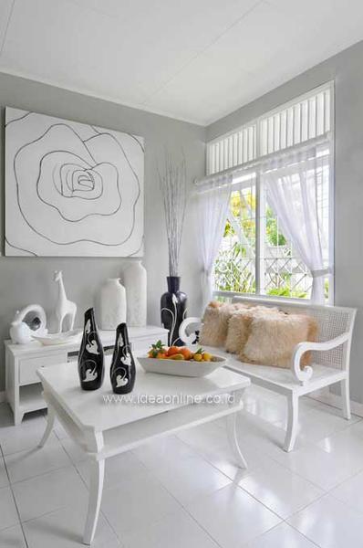 50 Desain Interior Ruang Tamu Minimalis Modern Dan Klasik Warna Cat Putih Desainrumahnya