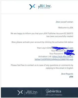 بعد الضغط علي (create account)سيرسل رسالةالي الجيميل تبعك اضغط عليActivation Link