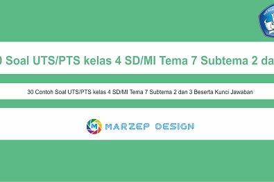 30 Soal UTS/PTS kelas 4 SD/MI Tema 7 Subtema 2 dan 3 Lengkap Kunci Jawaban