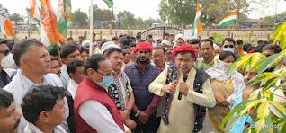 किसान आक्रोश रैली में उमड़ा सैलाब, कांग्रेस ने निकाली विषाल टैक्टर वाहन रैली