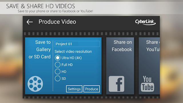 Tampilan Aplikasi PowerDirector Video Editor Android