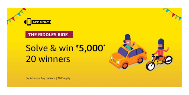 Amazon Riddles Ride Quiz 28 December