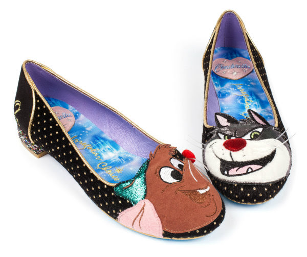 Disney Cinderella Irregular Choice Lucifer & Gus black shoes