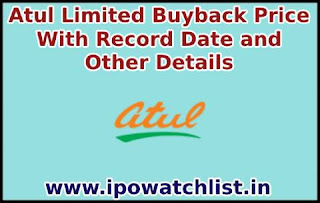 Atul Limited Buyback