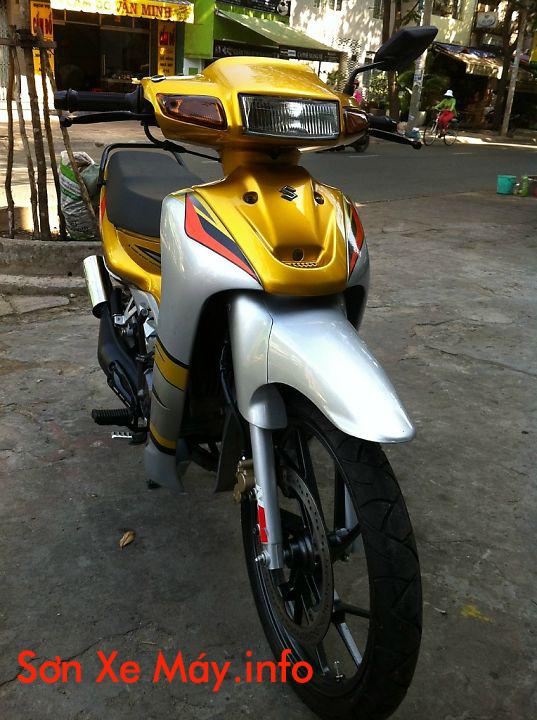 Sơn xe Xipo màu vàng bạc bóng bẩy cực đẹp